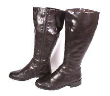 #26S Damen Winter Stiefel Boots Leder braun Gr. 37 Lammfell-Futter Profilsohle