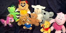 Stofftiere Bären Maus Frosch Schwein Pferd 10teilig Sammlung Konvolut NK144