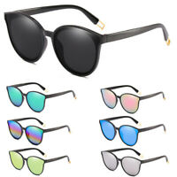 Fashion Oversized Sunglasses Cat Eye Flat UV400 Eyewear Mirror Square Women Gift