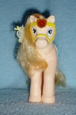 Vintage Buddy L Corp - Peach Pony - Blue Saddle & Yellow Molded Bridle