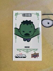 2020 UD Marvel Anime #41 of 65 HULK Chibi Mini Card TIER 2 1:240