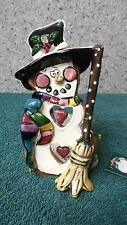 Snowman T-Light Holder by Heather Goldminc for Blue Sky Clayworks made in China