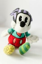 RARE! Disney Romero Britto Mickey Mouse Soft Enesco Patchwork Art Plush
