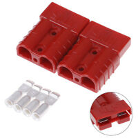 2x#50A 600V car battery quick connect disconnect power wire cable connector plug