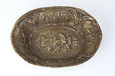 Alte schwere Schale Bronze Qualitäts Bronze Messing