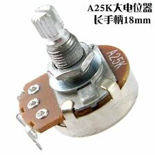 2 Pcs Full Size A25K long Split shaft Guitar Bass Volume Tone Pots Potentiometer