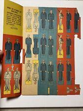Vintage Samuel Lowe Co 1943 Cardboard Sailor Navy Military Ephemera Cut Out Book