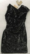 ALL SAINTS Velutina Sequin Draped Dress Size 8