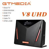 GTmedia Receptor de satélite V8 UHD Tuner FTA 4K TV Box WIFI,HDR,Youtube,T2-MI