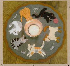 PATTERN - The Cat's Meow Candle Mat KIT - applique candle mat PATTERN