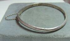 925 Sterling Silver Vintage Hinged Bangle Bracelet Ck 14