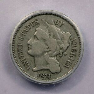 1873-P 1873 Three Cent Nickel ICG F12 Open 3