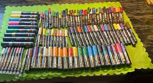 New 110 Uni Posca paint marker Pen large set, 8K,1M,350,17K,5M some duplicates