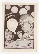 OLD DENVER CO BREAD CO KIDS BLOWING BUBBLES PAINT WITH WATER TRADE CARD TC1662