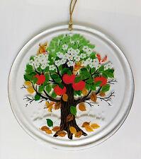 Fensterbild Rund Glas Motiv Apfel Baum klar Window picture glass apple tree