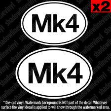 MK4 Euro Oval Vinyl Decal Sticker German Golf MKIV 1J VW GTI VR6 R32 Hatch