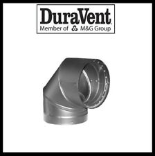 """DURAVENT DVL DOUBLE WALL- 6"""" Wood Stove Pipe- 90 Degree Elbow #6DVL-E90"""