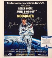 Richard Kiel ROGER MOORE Signed James Bond 11x14 Photo #007/007 Beckett BAS COA