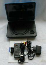 WONNIE 9,5 Zoll DVD Player schwenkbar Blau W928 tragbarer DVD Player
