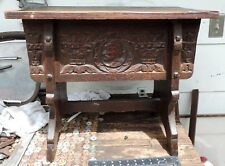 Antique Carved Wood Chest William H. Hoops and Company Chicago VERY NICE!!