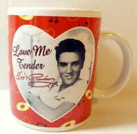 Elvis Presley Coffee Mug Love Me Tender 1998 Vintage