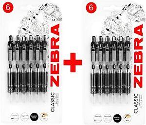 Ballpoint Pens Zebra Z-Grip Mini Retractable - 1.0mm - Black Ink - Blister of 12