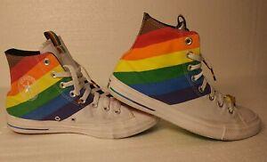 Converse All Star Chuck Taylor Rainbow Diversity Equality Love Sz M7.5/ W9.5