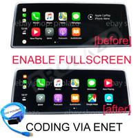 BMW Apple Carplay Split screen to Fullscreen CODING VIA ENET US
