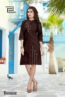Indian Pakistani Women Wear Apparel Kurta Kurti Summer Dress Pure Cotton Fabric