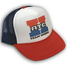 Team Honda ATC Motorcycle 3 Wheeler Trucker Hat Mesh Back Snapback Cap RWB