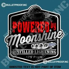 Powered by Moonshine Distilled Lightning -- Decal / Sticker .       X044