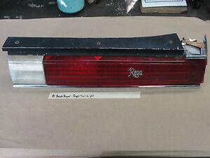 81 Buick Regal 2DR RIGHT PASSENGER SIDE TAIL LIGHT LENS BEZEL TRIM REVERSE LIGHT