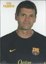 Postal postcard TITO VILANOVA coach FC BARCELONA 12/13