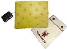 Tobin Marcus RFID CobalTex Handmade OSTRICH LEATHER BIFOLD WALLET    Unique Gift