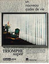 PUBLICITE  1970   TRIOMPHE  DIOLEN rideaux voilages