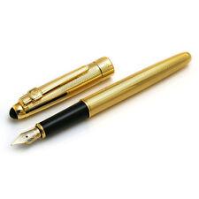Diamond Cut 22kt Gold Plated Cross Cut Fountain Pen $200 Graduation Boss Gift