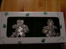Longaberger 2000 Roger & Ginger Pewter Christmas Tree Ornament Set