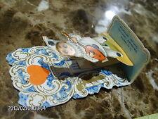 antique German die cut paper Valentine pop-up