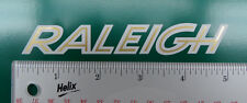 "Raleigh bicycle pair of  5"" White downtube decals (2)"