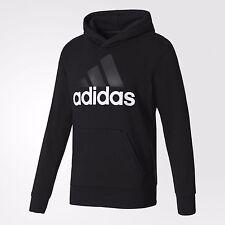 adidas Noir Black Mens US Size XL X-large Hoodie Sports Sweatshirt #004