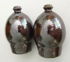 Set of Brown Bendigo Pottery Salt and Pepper Shakers - Very Good Condition