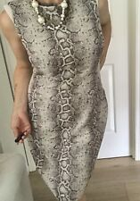 DAVID LAWRENCE WOMENS DRESS SNAKE PRINT LINED KNEE LENGHT SZ 14