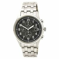 Citizen CA0620-59H Men's Grey Dial Chrono Steel Bracelet Watch