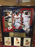 BOSTON RED SOX LEGACY (WILLIAMS, YAZ, ORTIZ) 12 X 15 PHOTO PLAQUE WITH CARDS