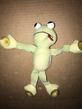 """Vintage Frog Plush Doll With Suction Cups 8"""""""