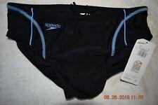Mens Speedo swim brief   Black w/ Blue outline      Size 32