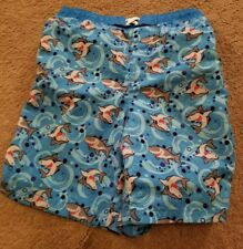 bunz kids boys shark swim trunks 7 suit shorts blue