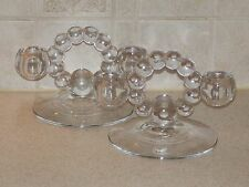 IMPERIAL CANDLEWICK CLEAR 400/100 PAIR TWIN CANDLEHOLDERS  EXCELLENT!