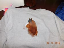 New Clydesdale Draft Head Embroidered Sweatshirt Add Name For Free