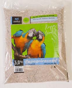 5 kg Papageiensand Badesand Vogelsand keimfrei feuergetrocknet mit Kalk & Anis